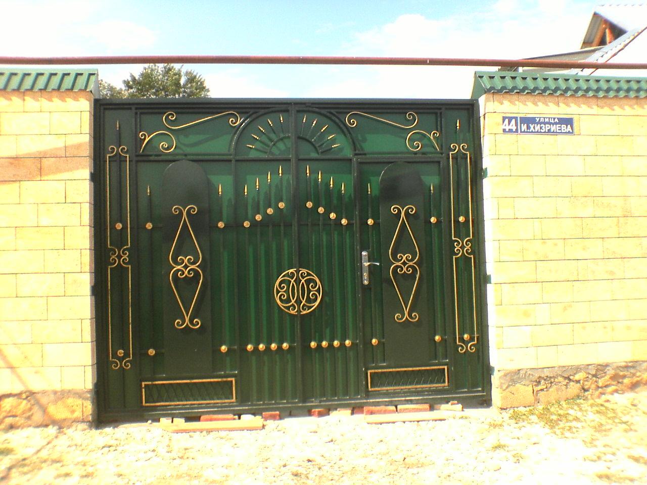 Ворота для частного дома с калиткой купить ворота и калитку на сахалине